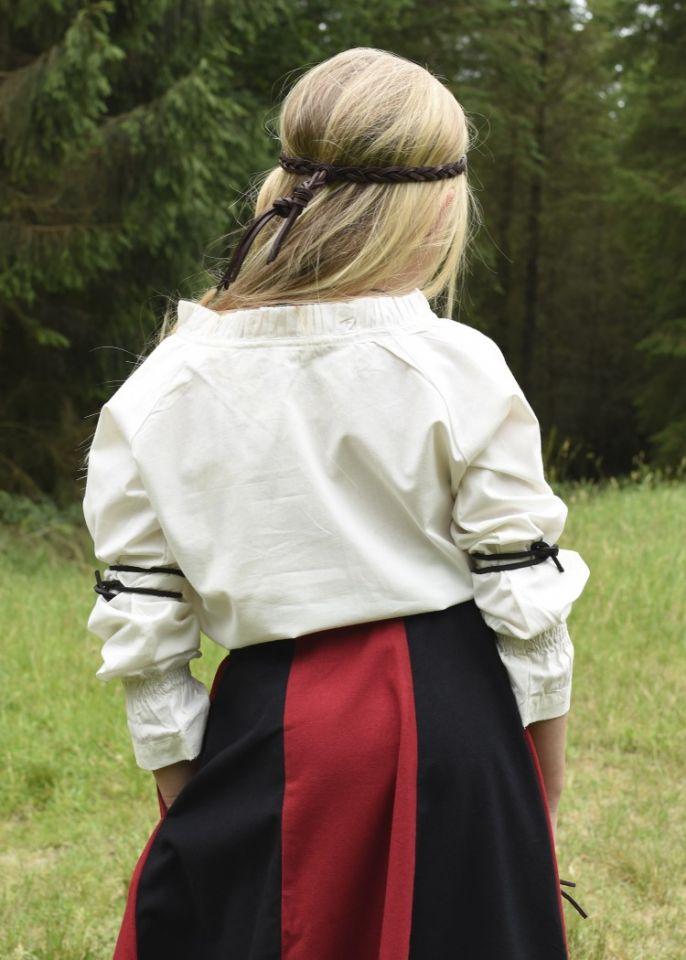 Mädchenrock für Mittelalter rot-schwarz 5