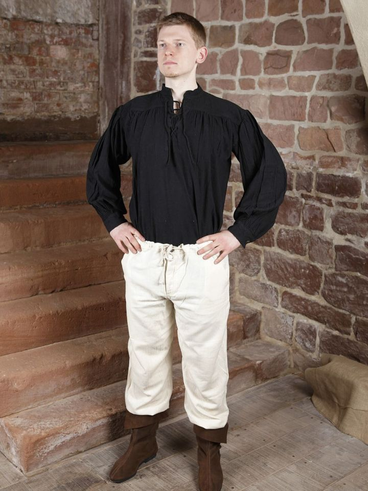 Baumwollhose mit Schnürung schwarz L | schwarz 5