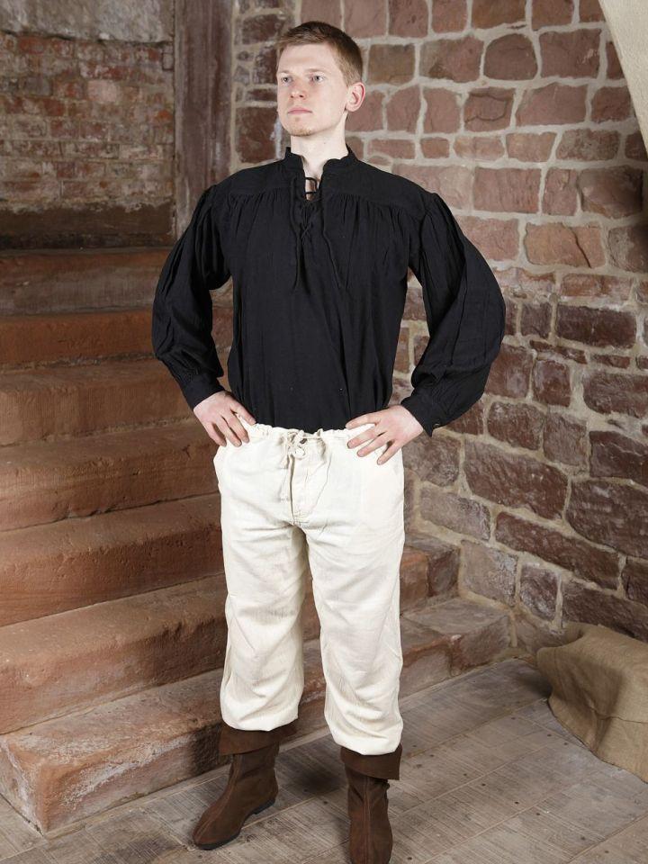 Baumwollhose mit Schnürung schwarz XL | schwarz 5