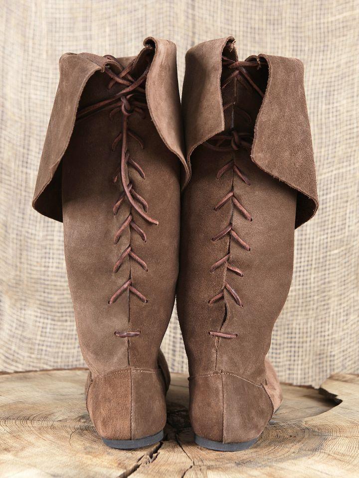 Stiefel mit Stulpe aus Wildleder 5