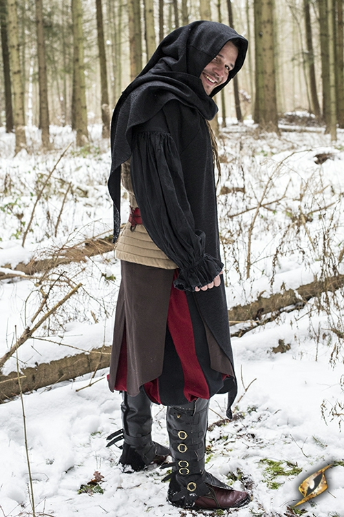 Schal-Gugel schwarz 5