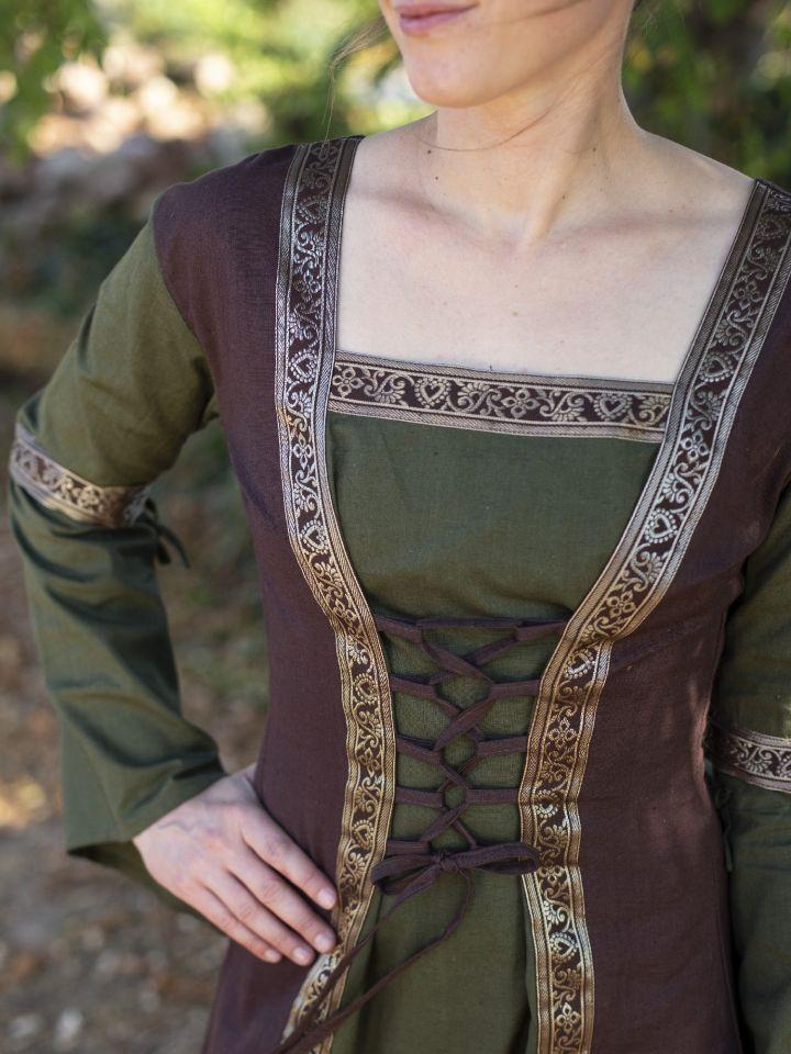 Mittelalterkleid mit abnehmbaren Ärmeln oliv-braun XXL 5