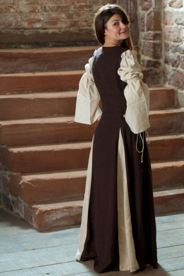 Ärmelloses Kleid braun M 5