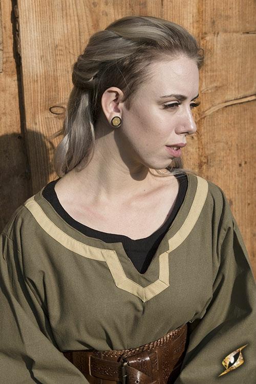 Kleid Astrid oliv-sand 5