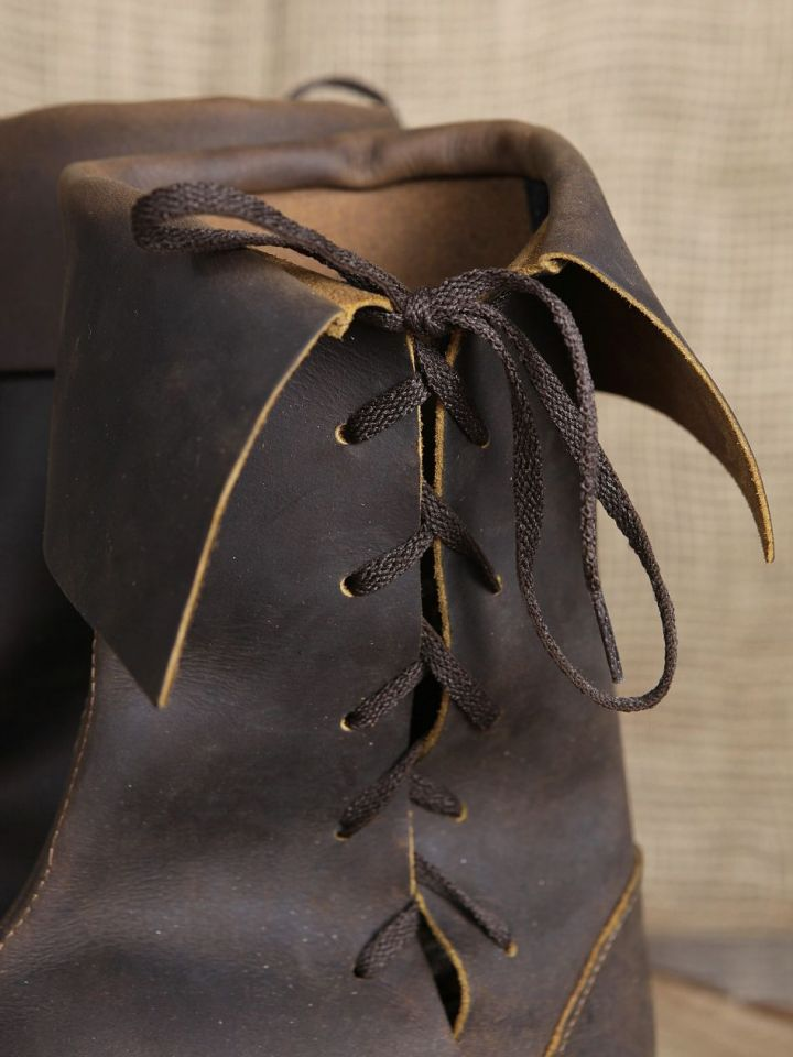 Stulpenstiefel aus Nubukleder 42   schwarz 5