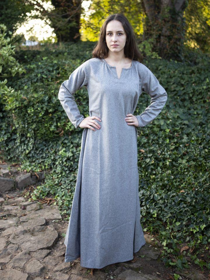 Kleid Wilma hellgrau 5