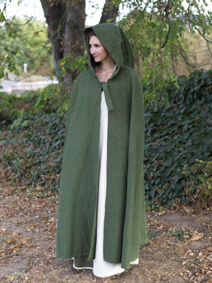 Kapuzenumhang aus Baumwolle grün 5
