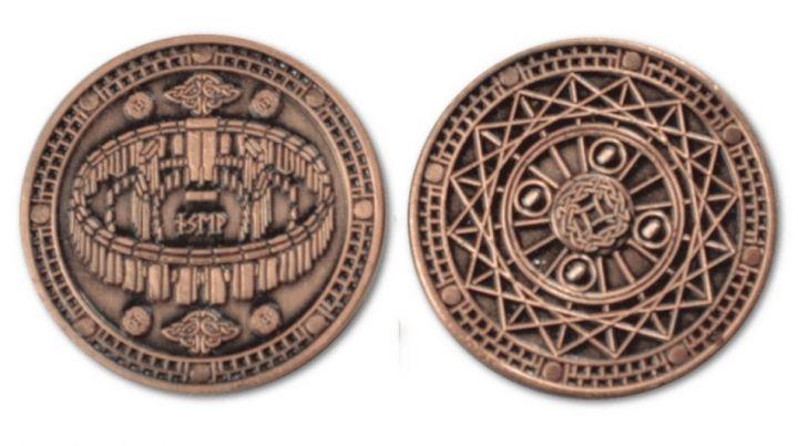 LARP-Münzen Erde ohne Lederbeutel 5