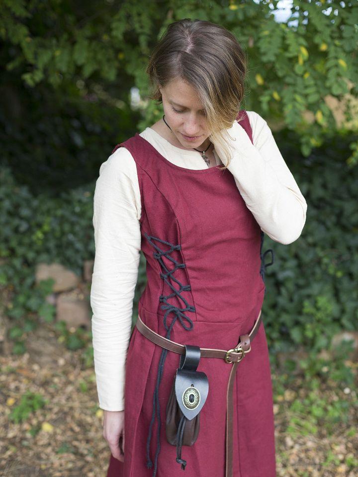 Ärmelloses Trägerkleid aus Canvas rot S 5