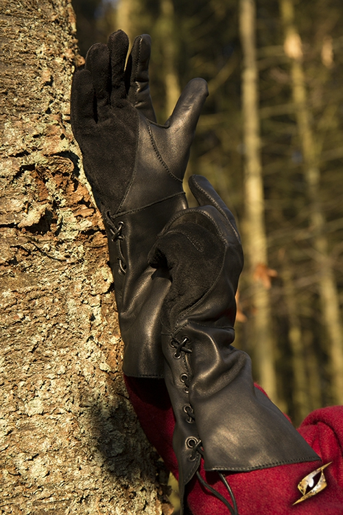 Falknerhandschuhe schwarz 5