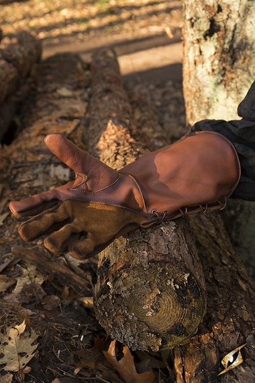 Falknerhandschuhe braun 5