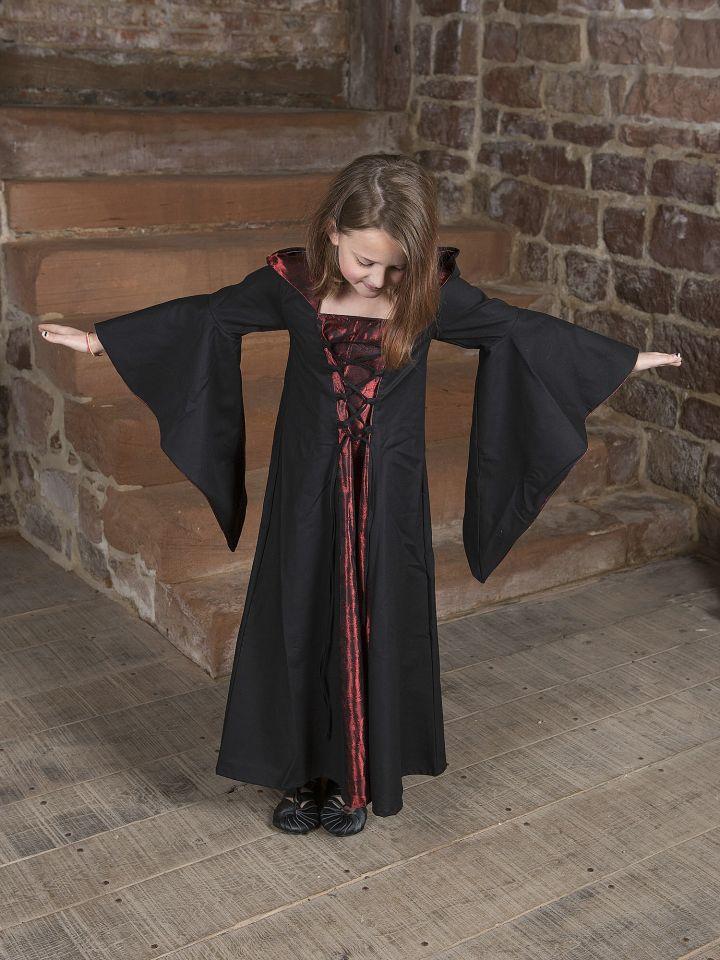 Kinderkleid Gretlin schwarz-rot 5