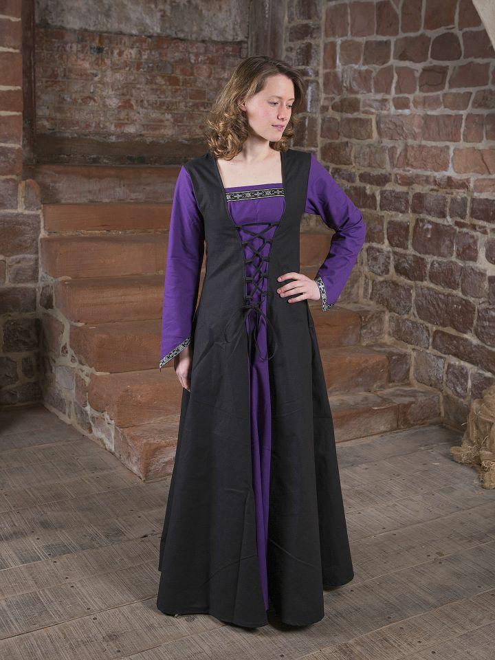 Mittelalterkleid Jacqueline schwarz - lila 5