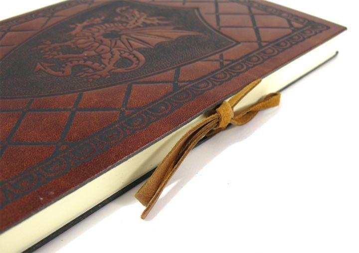 """Schreibbuch """"ScuDrago"""" im Ledereinband Mittel 12 x 17 cm 5"""