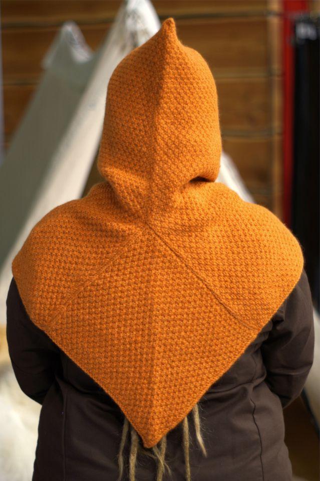 Woll-Strick Gugel Asbjorn orange 5