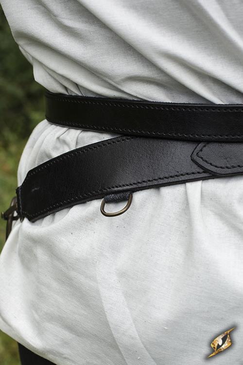 Schwertgürtel für LARP-Schwerter schwarz 6