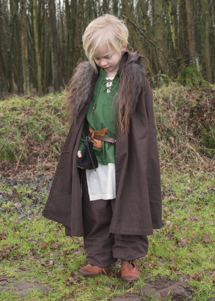 Kinder Mittelalterhemd grün 6