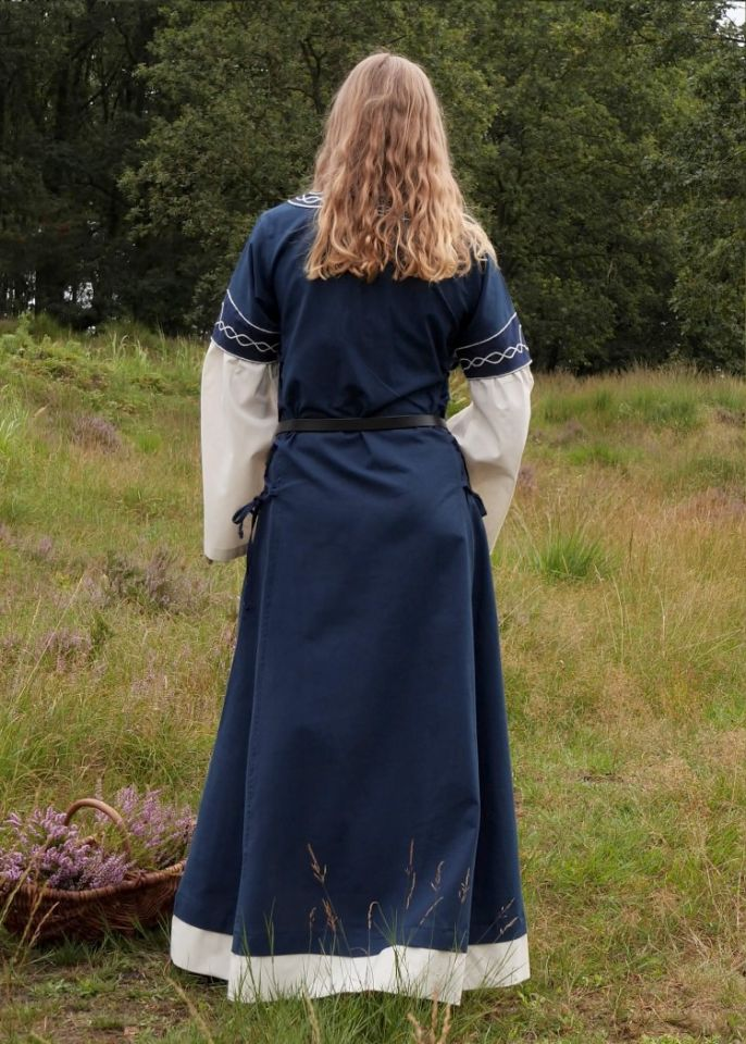 Kleid Agatha blau 6