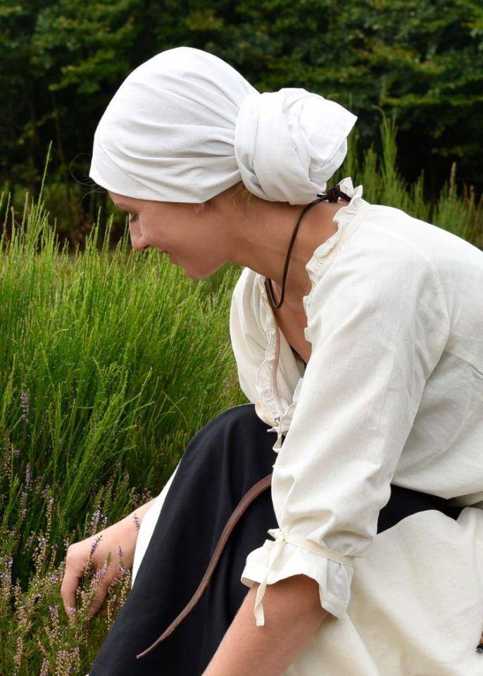 Mittelalter Kopftuch natur 6