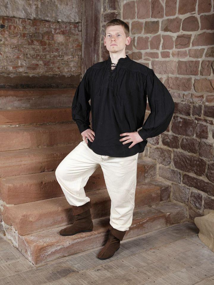 Baumwollhose mit Schnürung schwarz L | schwarz 6