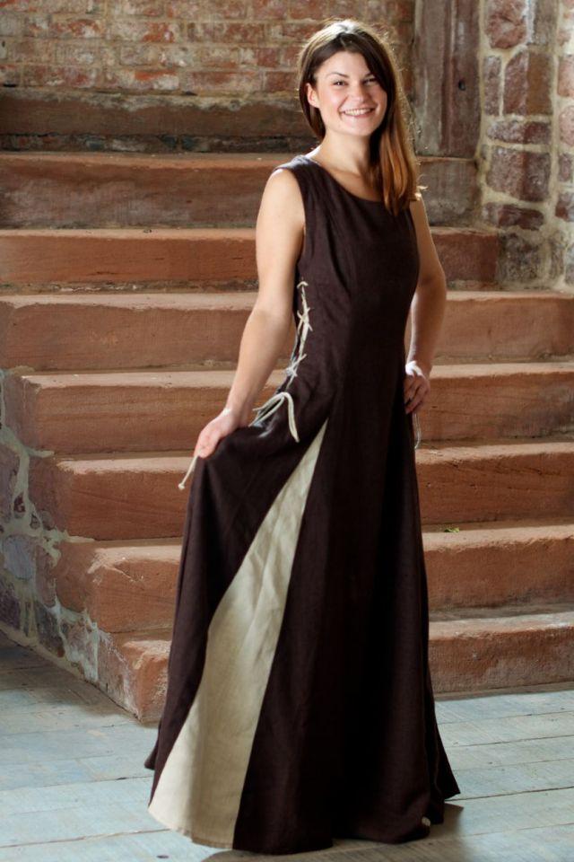 Ärmelloses Kleid braun M 6