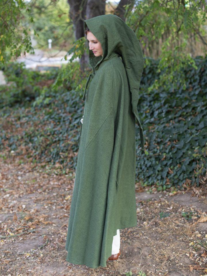 Kapuzenumhang aus Baumwolle grün 6