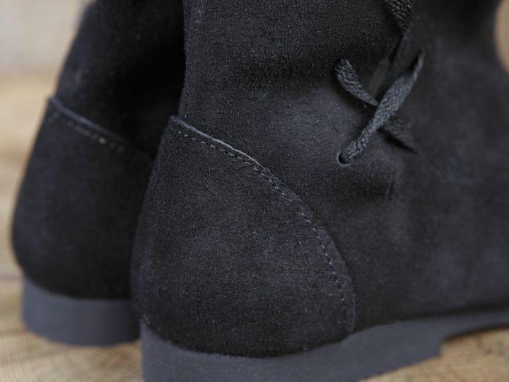Stulpenstiefel in braun oder schwarz 46 | schwarz 6
