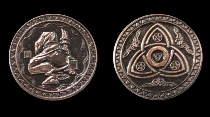 LARP-Münzen Magier 6