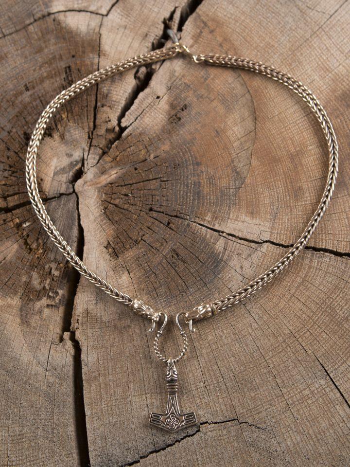 Handgeflochtene Wikingerkette 65 cm 6
