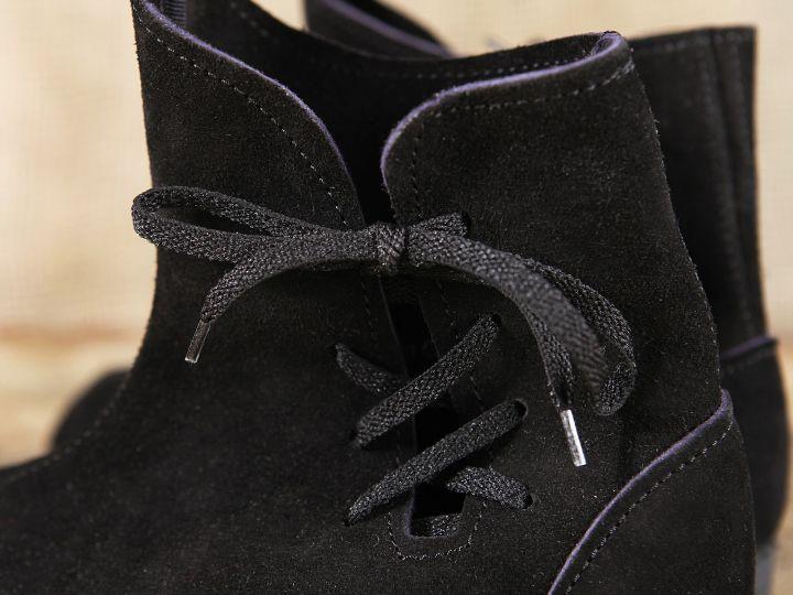 Schuh nach historischem Vorbild (aus Velourleder) 6