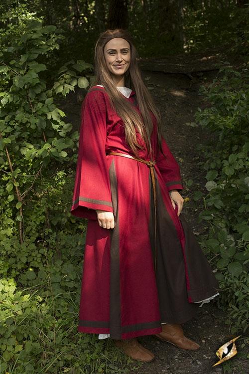 Kleid Astrid rot-braun 6
