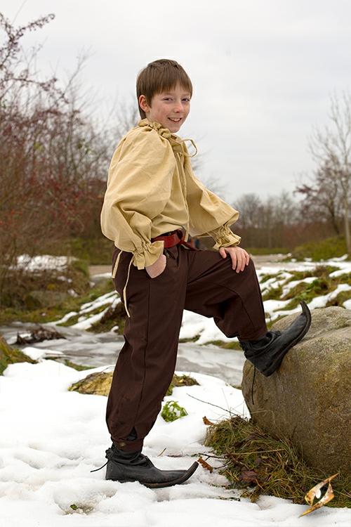 Baumwollhose für Kinder braun 6