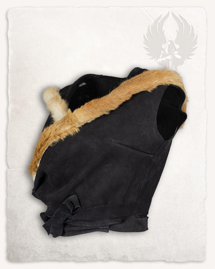 Kapuzentop aus Leder schwarz 6
