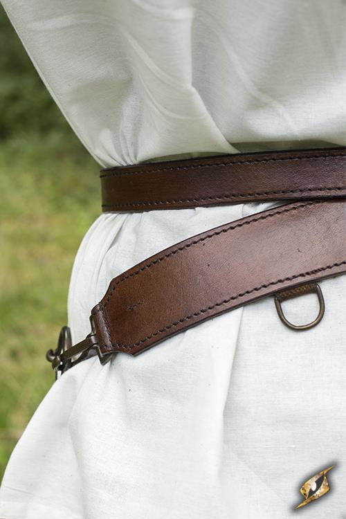 Schwertgürtel für LARP-Schwerter braun 7