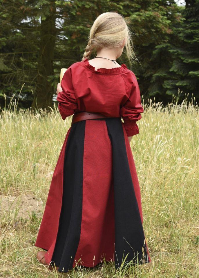 Mädchenrock für Mittelalter rot-schwarz 7