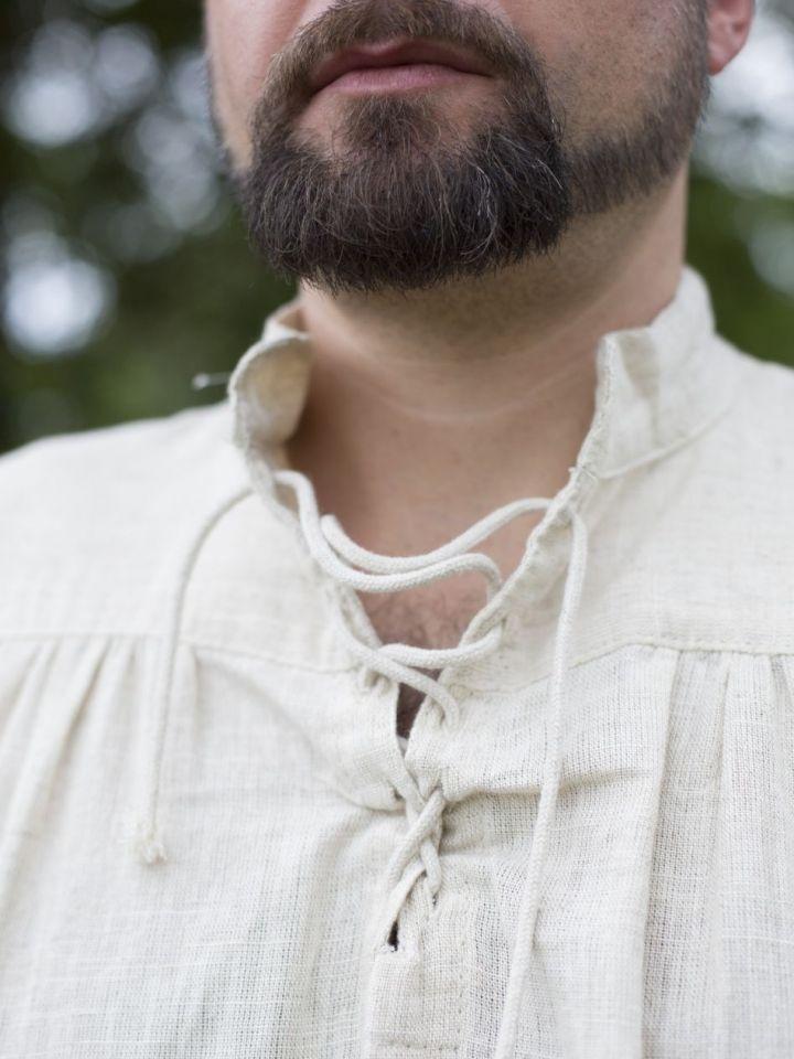 Mittelalterhemd Leinen M | weiß 7