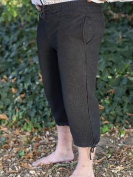 Einfache Kniebundhose schwarz