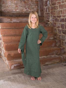 Kinderkleid aus Baumwolle 122/128 | weinrot