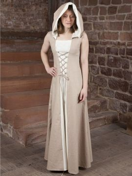 Mittelalterkleid Loris creme-weiß 36