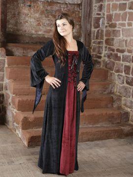 Samtkleid schwarz-rot XL