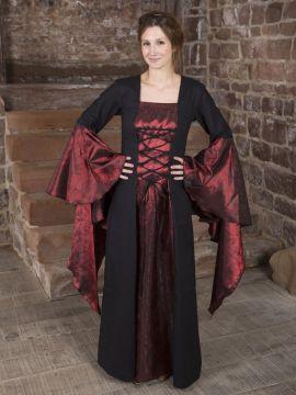 Mittelalterkleid Marlein schwarz-rot 44
