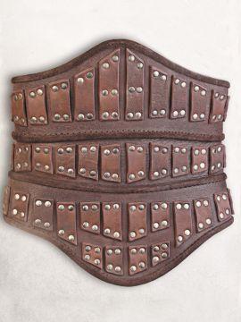 Ledermieder mit Rüstplatten braun L/XL