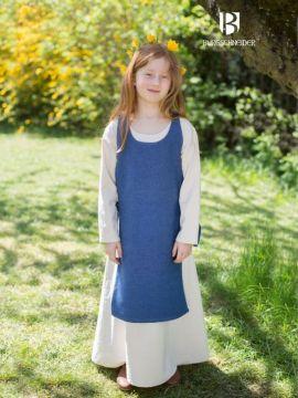 Kinderüberkleid Ylva meerblau 128