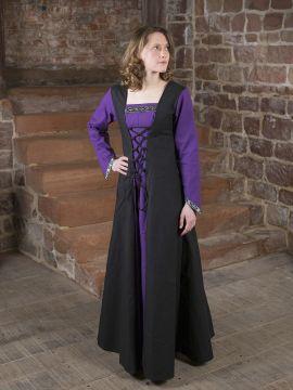 Mittelalterkleid Jacqueline schwarz - lila 38