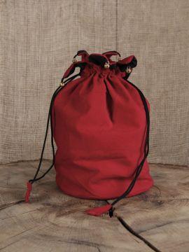 Umhängetasche (aus Samtstoff) rot