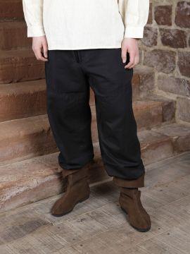 Baumwollhose - mit Schnürung L | schwarz
