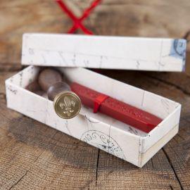 Siegel mit Siegellack - Geschenkbox Lilie