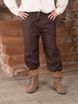 Mittelalterhose aus Wolle dunkelbraun L