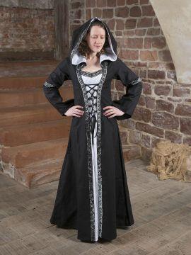 Mittelalterkleid Brida in schwarz-weiß 34