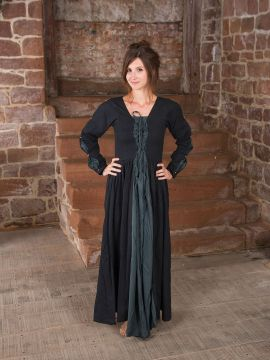 Mittelalterkleid schwarz-grau M